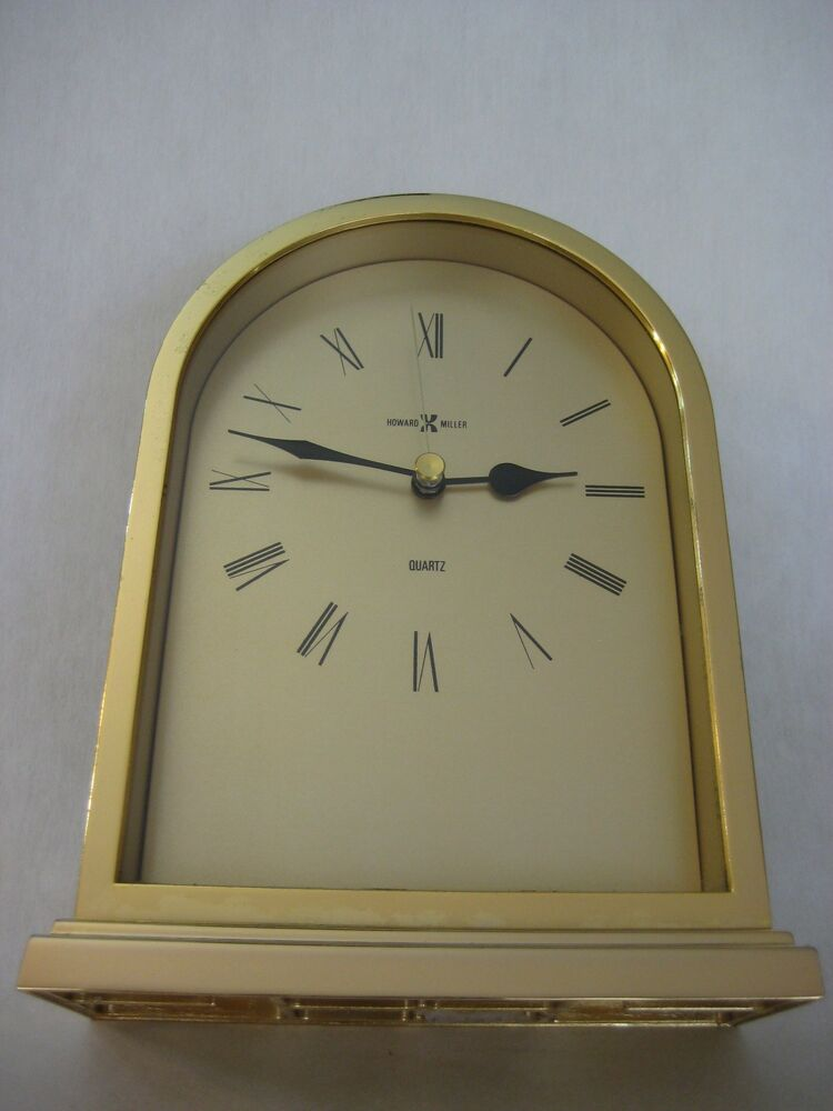 Howard Miller Quartz Desk Mantle Shelf Clock Made In