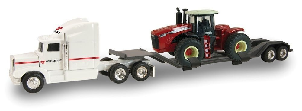 Versatile Semi Amp Flat Bed Trailer With A 500 Tractor Ertl 1 64 Scale New Ebay