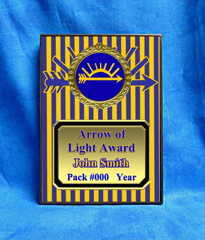 Arrow Of Light Custom Personalized Award Plaque Gift