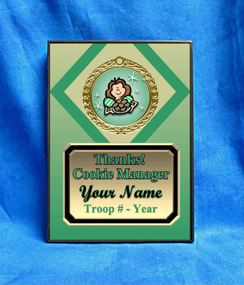 cookie manager thanks green custom personalized award