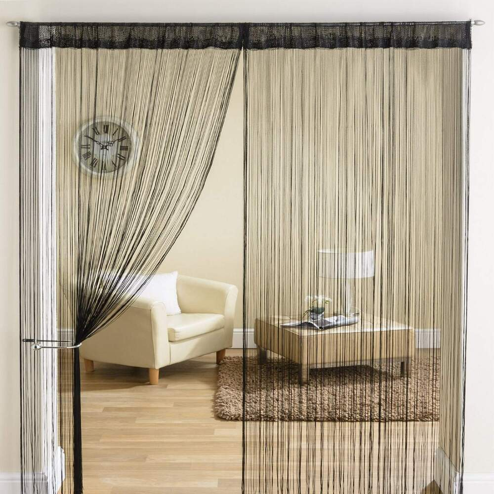 5 Panel Window : Classic string tassle fringe panel divider window door