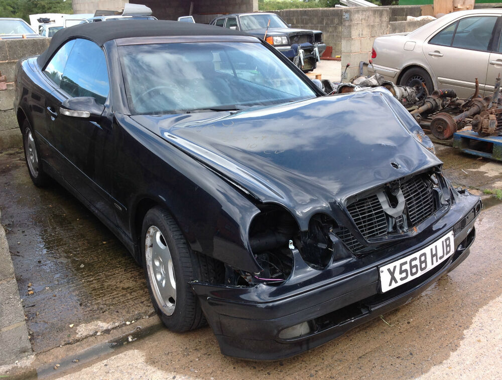 Mercedes clk class w208 convertible damaged repairable for Salvage mercedes benz for sale ebay