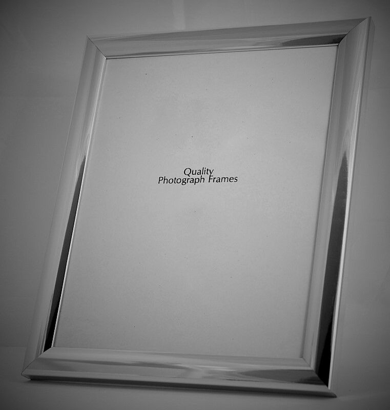 Shiny Silver Photo/Picture Frame with Domed Profile ...