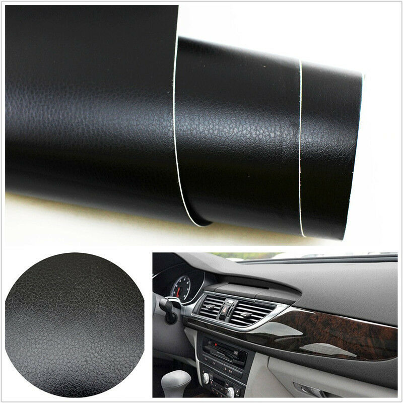 3d black leather texture sheet car auto interior trim vinyl film wrap sticker ebay. Black Bedroom Furniture Sets. Home Design Ideas