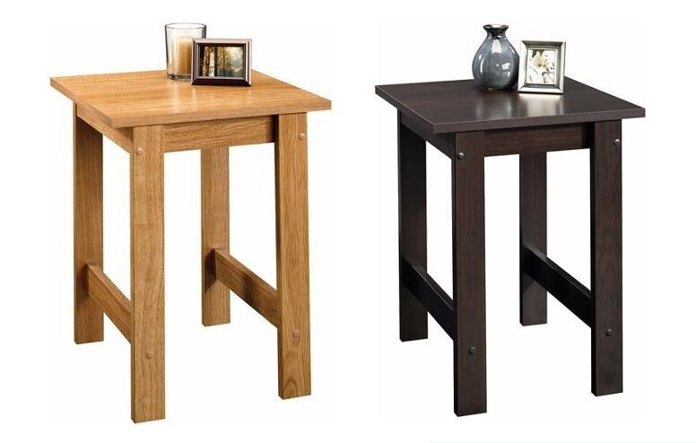 New Side End Table Black Brown Finish Coffee Night Stand
