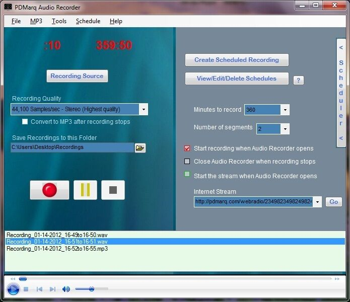Capture record internet web audio radio recorder for Window recorder