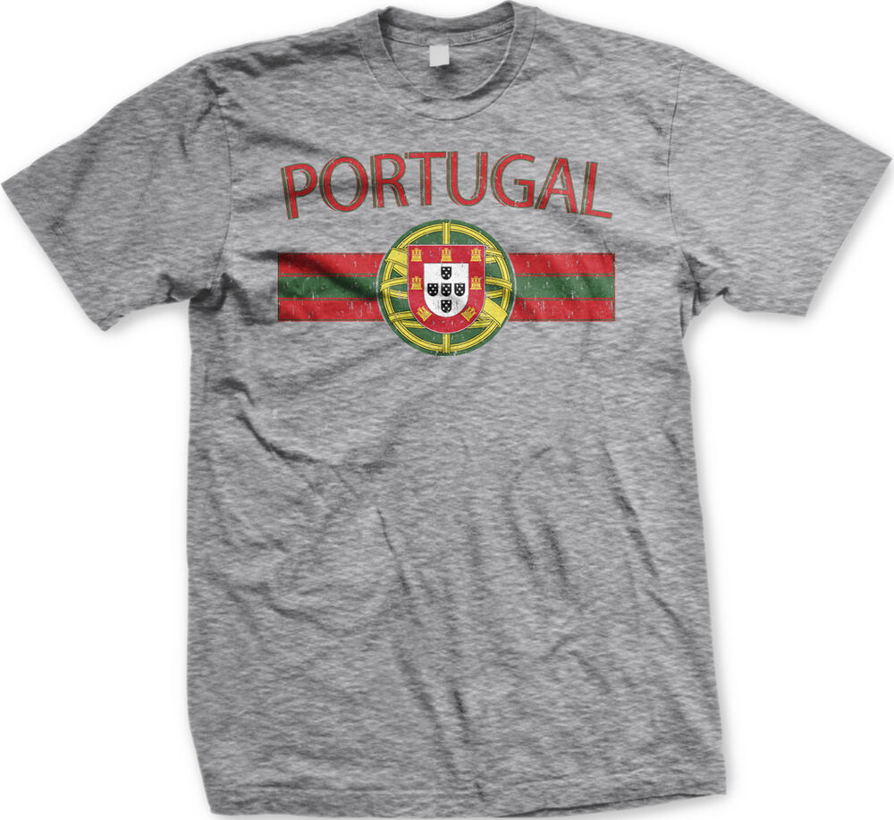 portugal distressed flag banner portuguese coat of arms crest mens t shirt ebay. Black Bedroom Furniture Sets. Home Design Ideas