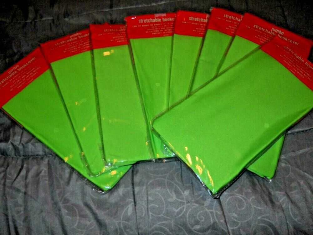 Box Sox Stretchable Fabric Book Cover : New jumbo light green book cover stretchable fabric sox