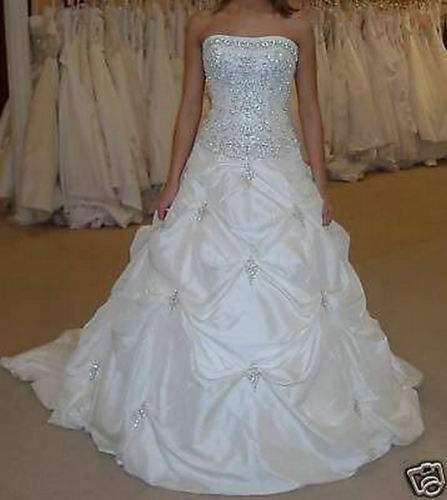 Stock ball gown wedding dress bride dress bridal gown size for Ebay wedding dresses size 6