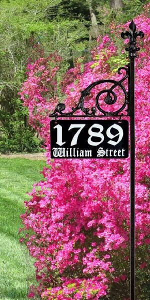 Reflective address sign yard home house numbers ebay - House number signs for yard ...