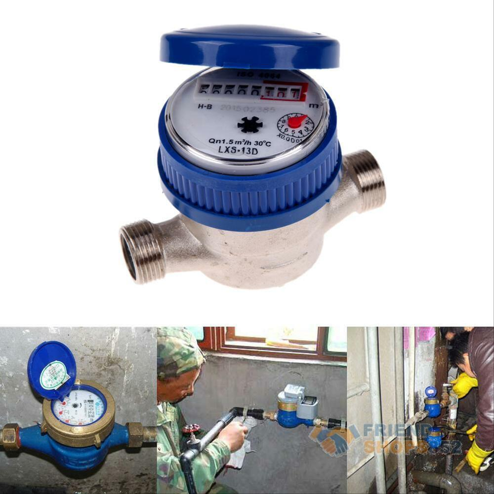 15mm 1 2 home and garden water flow measuring meter copper cold dry counter new ebay. Black Bedroom Furniture Sets. Home Design Ideas