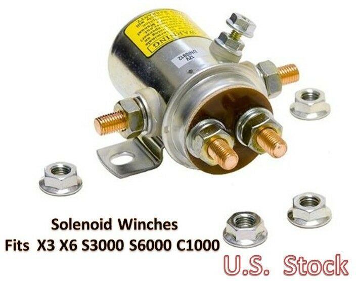 solenoid replacement 12v dc car rv atv winches motor duty. Black Bedroom Furniture Sets. Home Design Ideas