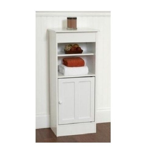 bathroom storage cabinet floor stand white wood furniture organizer