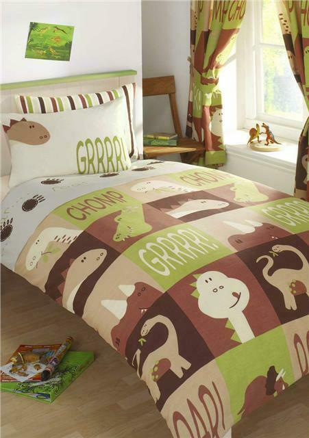 Dinosaur Land Single Or Double Boys Duvet Sets Kids Quilt Covers Amp Curtains Ebay