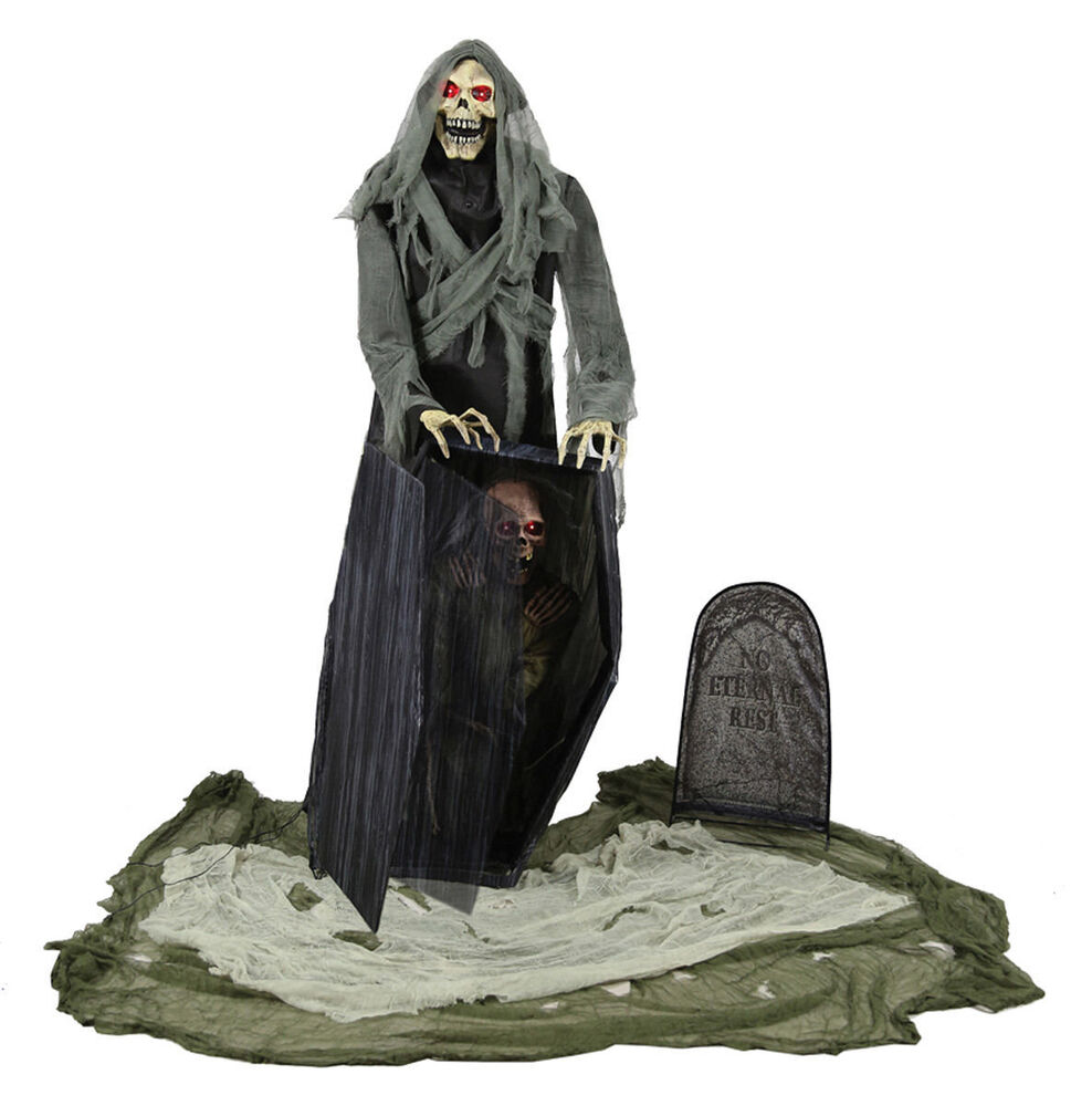 Morris costume graveyard animated reaper halloween for Animated halloween decoration