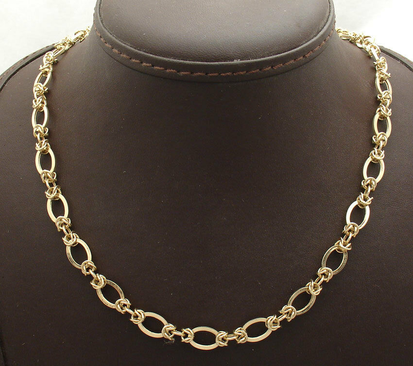 oval status byzantine chain necklace lobster clasp real
