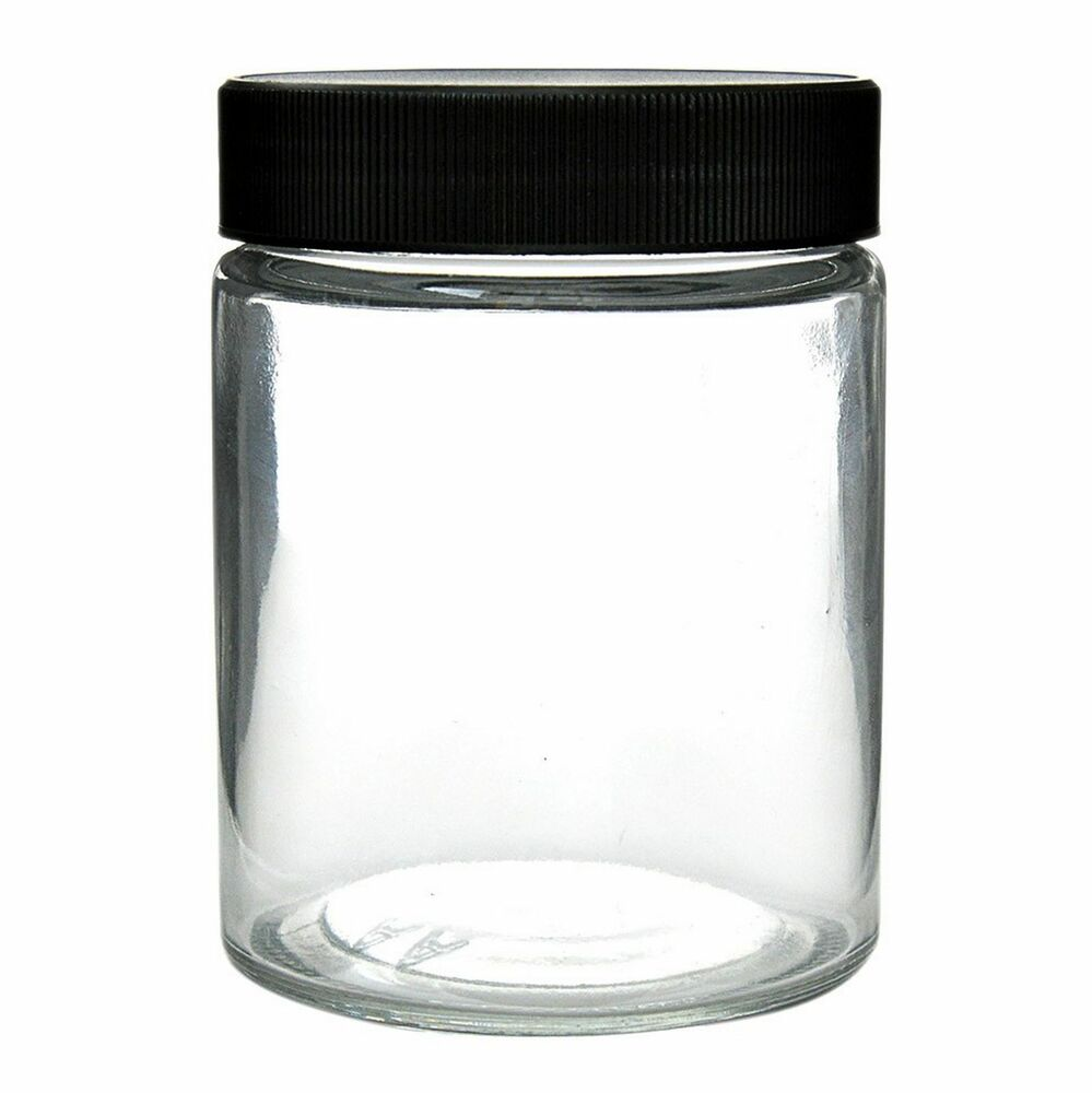 4 Ct Count 18oz Thick Glass Screw Cap Jars Airtight