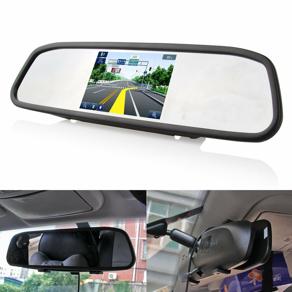 4 3 screen tft car lcd rear view rearview dvd mirror. Black Bedroom Furniture Sets. Home Design Ideas