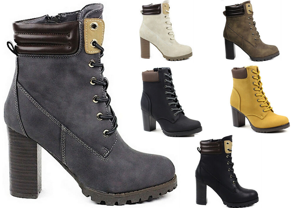 damen schuhe mit hoher absatz ankle boots damenschuhe stiefelette stiefel neu ebay. Black Bedroom Furniture Sets. Home Design Ideas