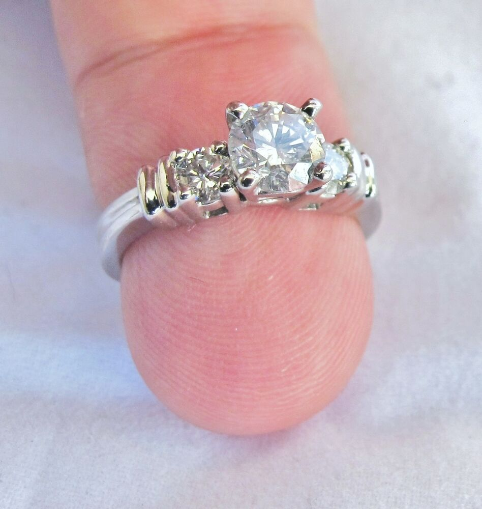 where to get jewelry appraised for free 1 05 carat platinum ring w 75 carat solitaire 2188
