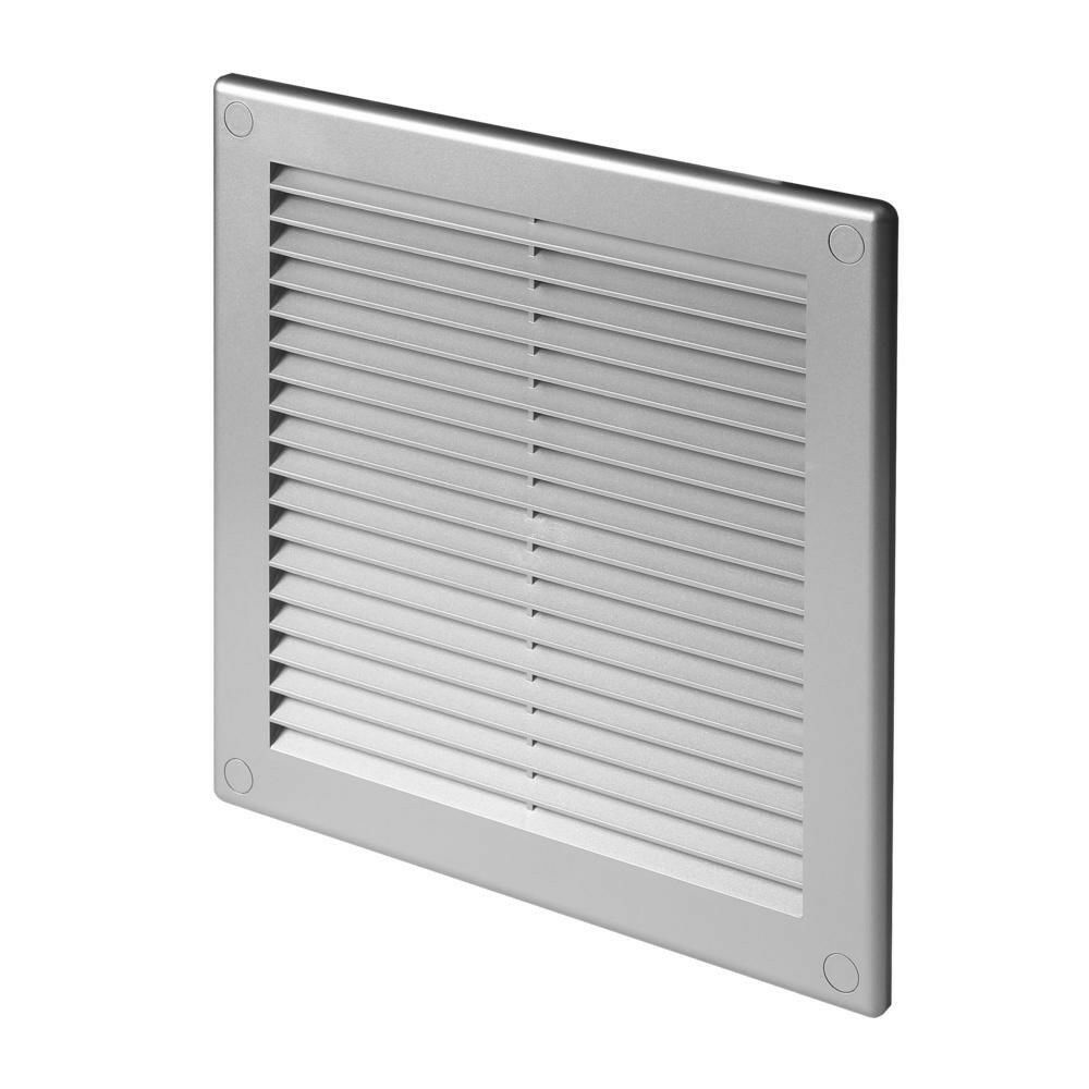Satin air vent grille 250mm x 250mm grey wall ventilation cover grid 10 39 39 tru8ss ebay - Grille ventilation hygroreglable ...