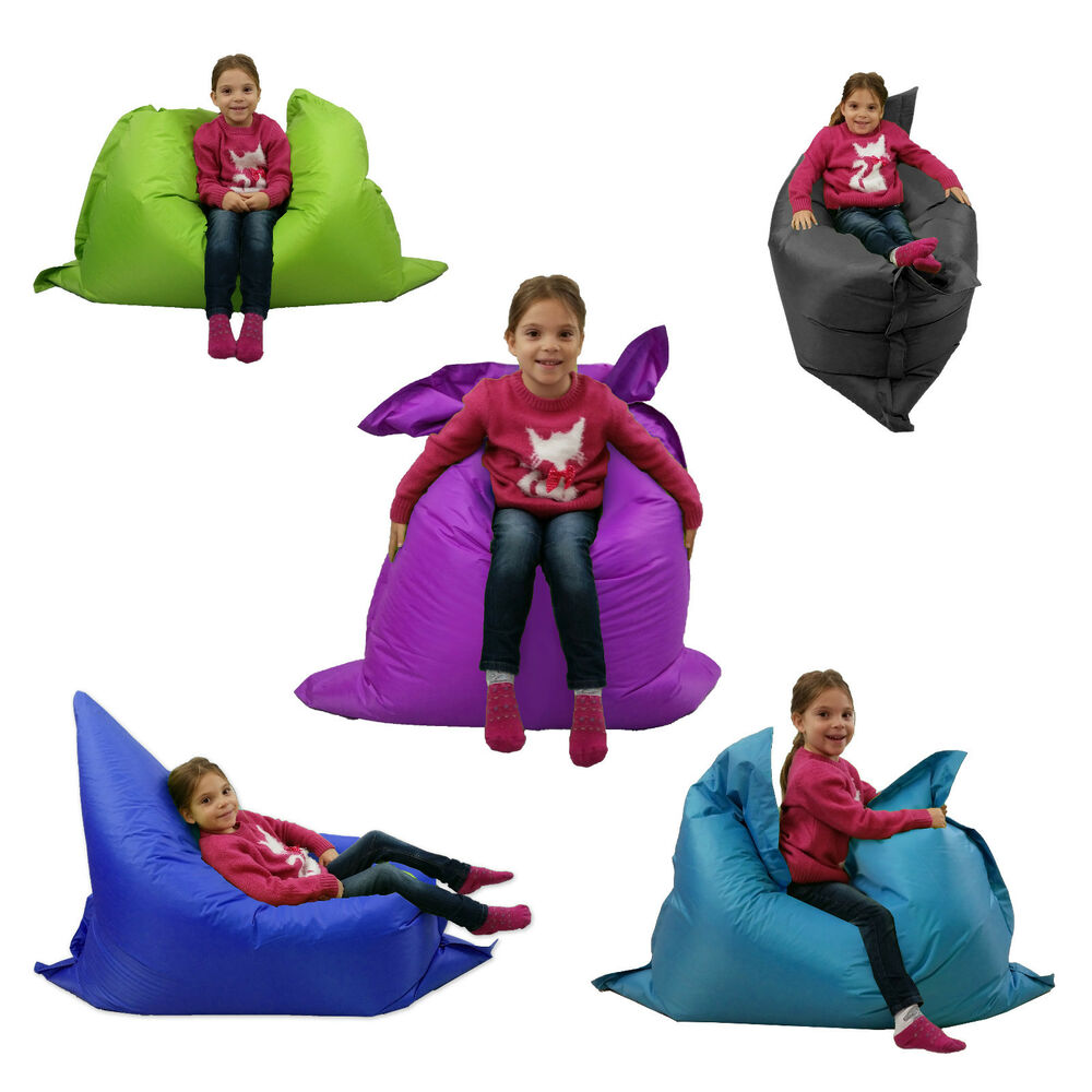 Large big kids bean bag garden indoor outdoor beanbag childrens waterproof chair ebay