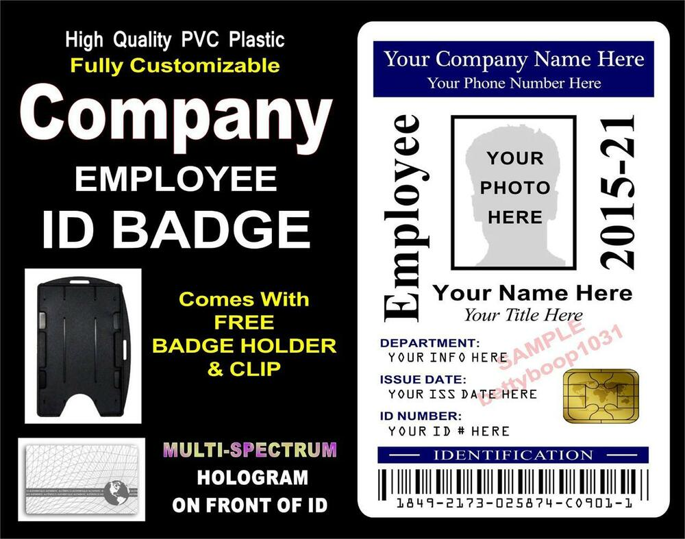 how to make employee id badges