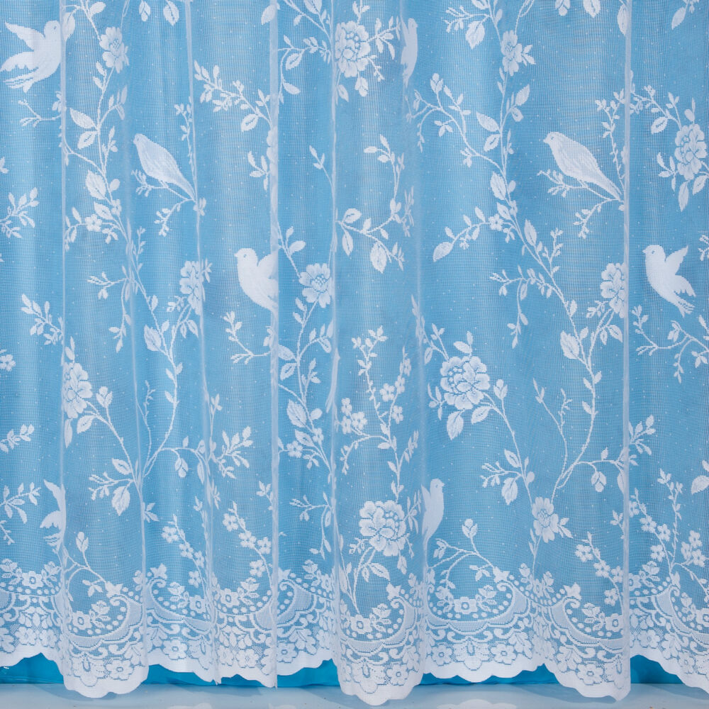 Bird curtains drapes - Robyn Bird Design Net Curtain Width Sold By The Metre