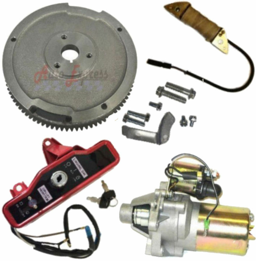 Electric Start Kit Flywheel Starter Motor Ingnition Honda