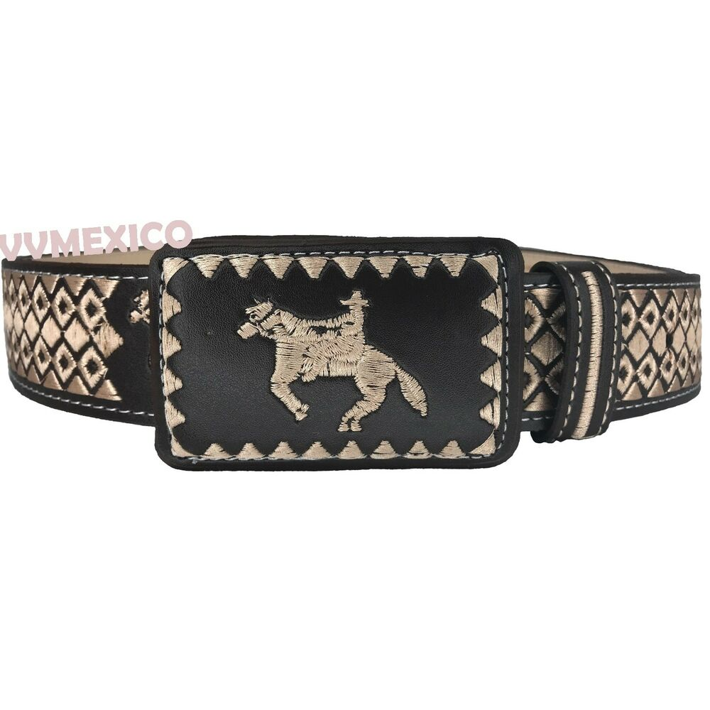 Cowboy mens mexican embroidered piteado vaquero cattleman