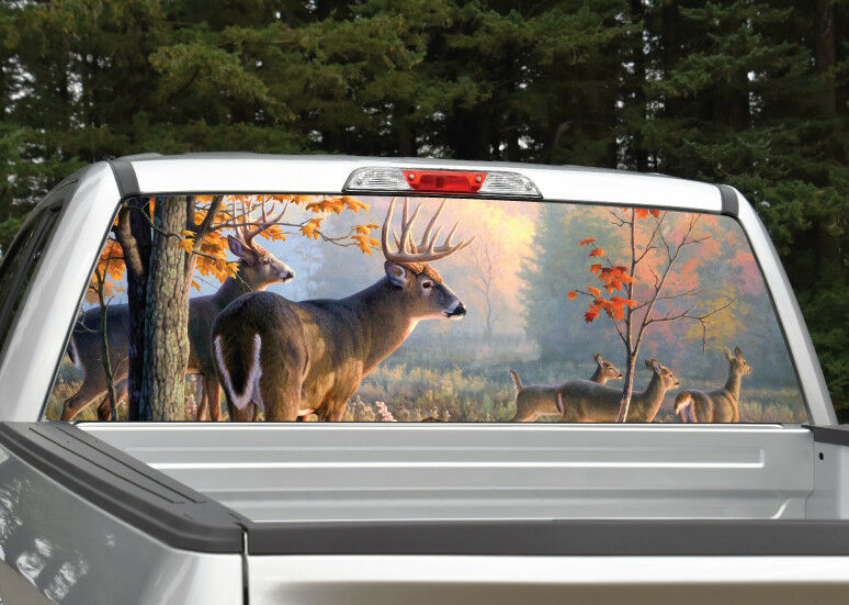 Buck Deer Scenery Hunting Rear Window Decal Graphic Truck SUV EBay - Rear window hunting decals for trucks
