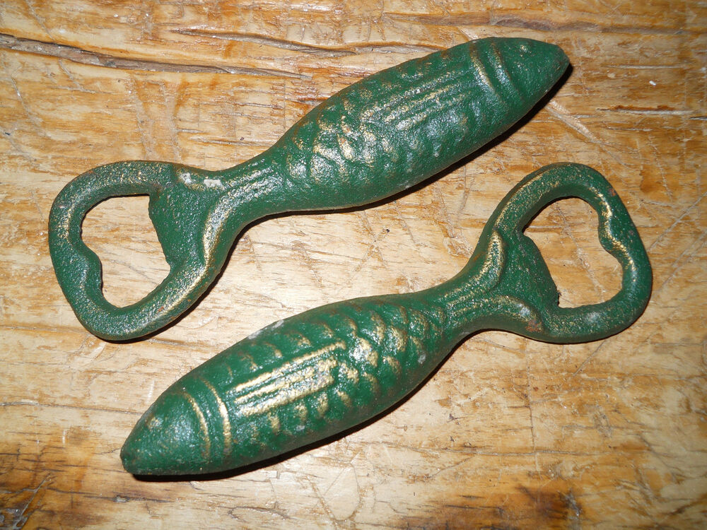 12 cast iron fish bottle openers trout salmon nautical for Cast iron fish