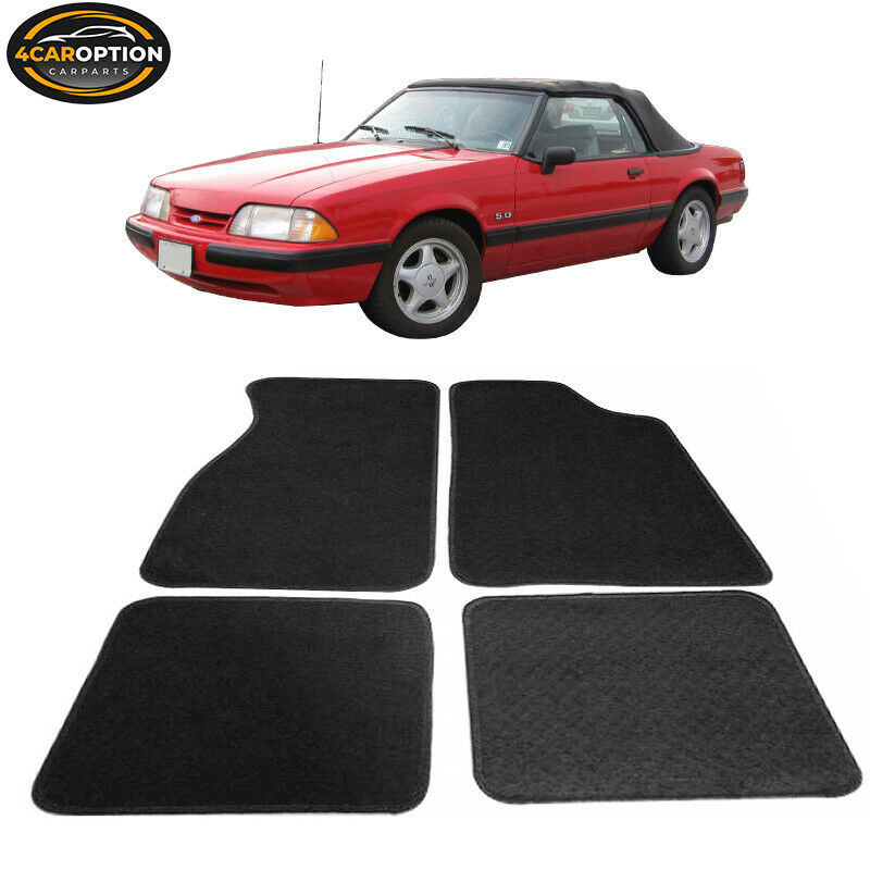 Fit 79 93 ford mustang 2dr floor mats carpet front rear for 1965 ford mustang floor mats