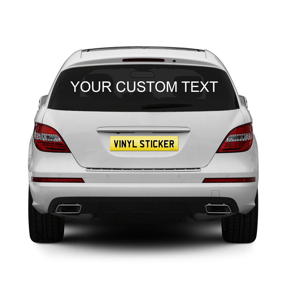 Details about 2 x personalised rear window car stickers custom vinyl name lettering decals