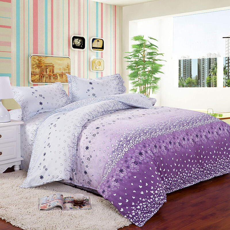 King single bed doona covers : Flowers heart single double queen king size bed set