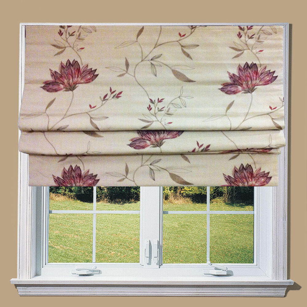 ella lined roman blind fittings great quality fast. Black Bedroom Furniture Sets. Home Design Ideas