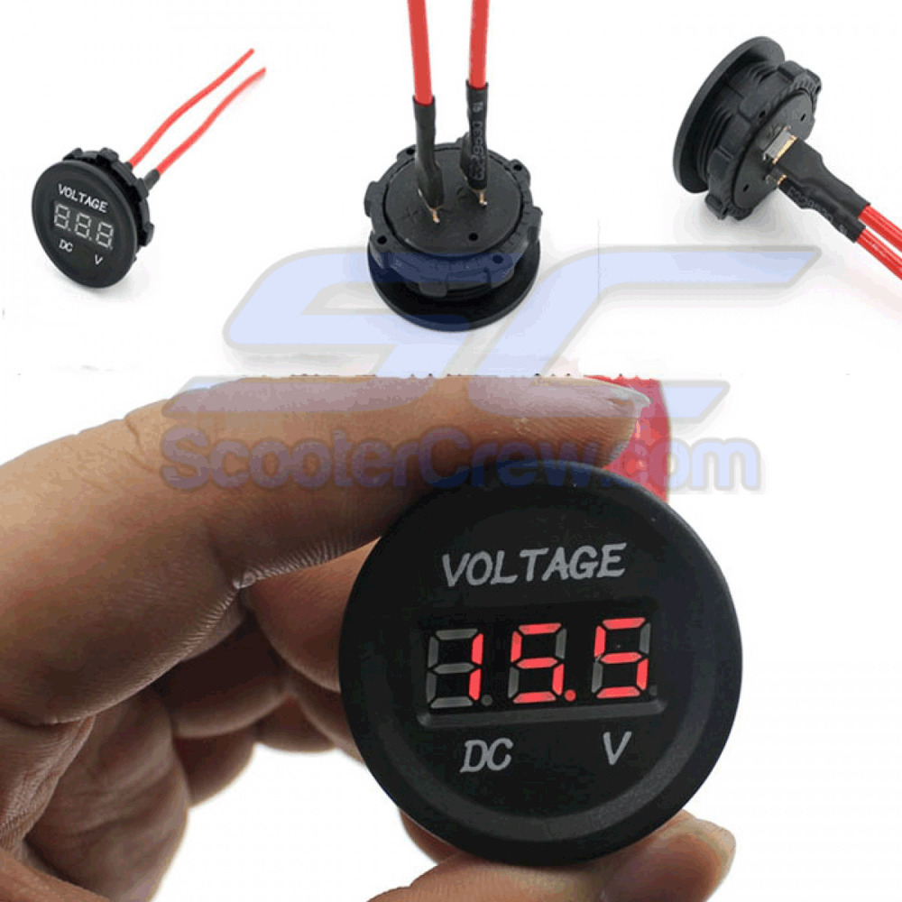 Rv Battery Voltage Gauge : Battery gauge volt meter electric utv polaris rzr xp