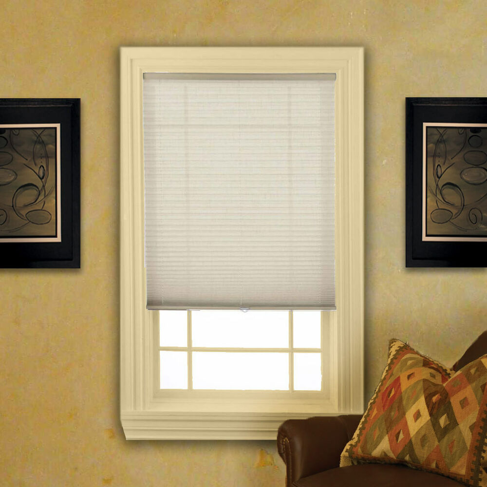 Cordless Linen Look Pleated Shades 4 Colors Ebay