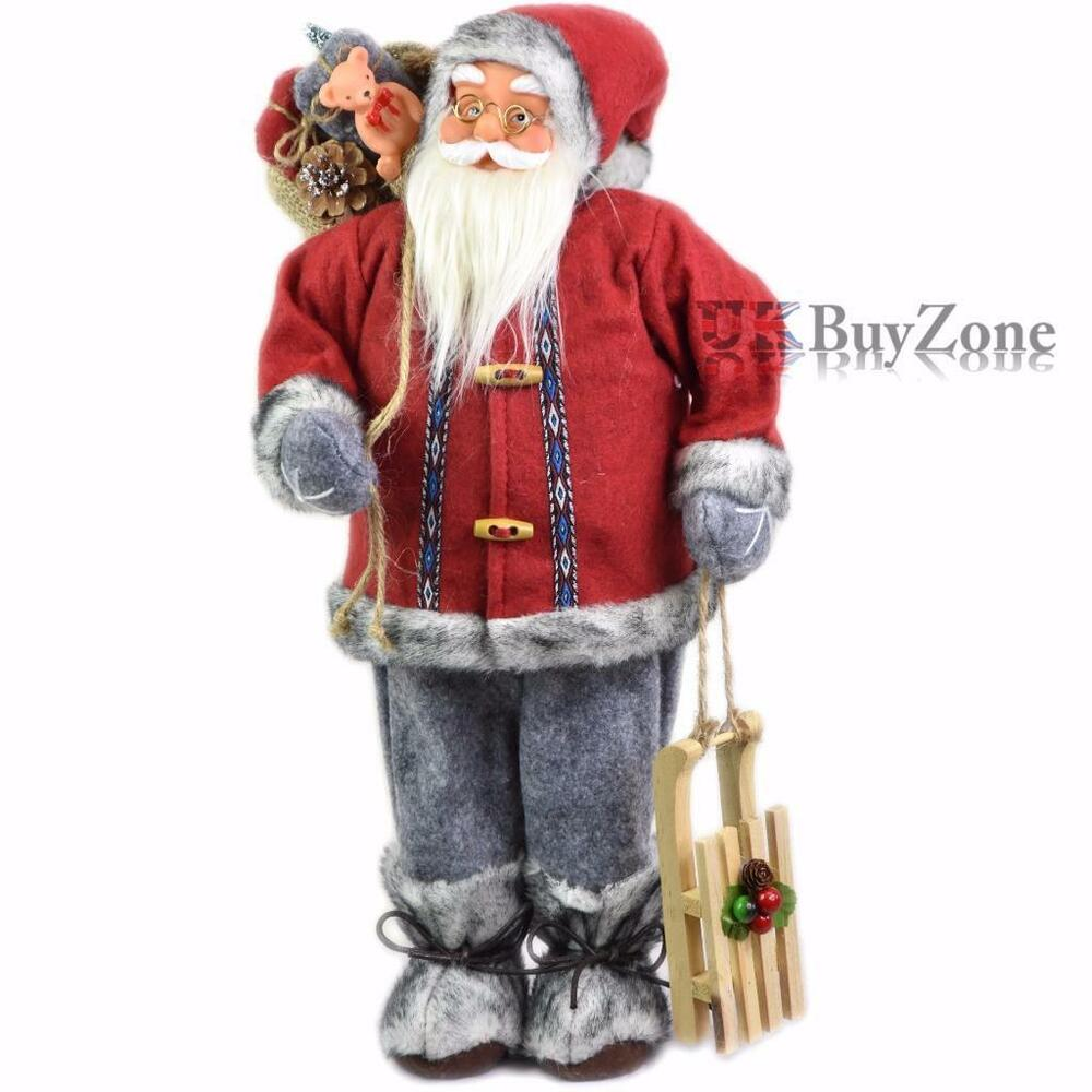 Quot large standing father christmas santa claus figure