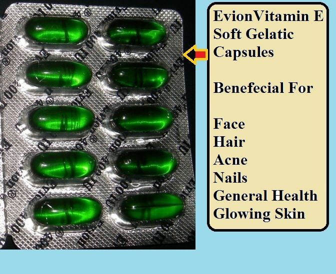 vitamin c and e capsules for skin