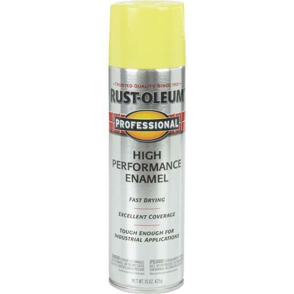 3 pk rustoleum professional industrial safety yellow for Spray paint safety