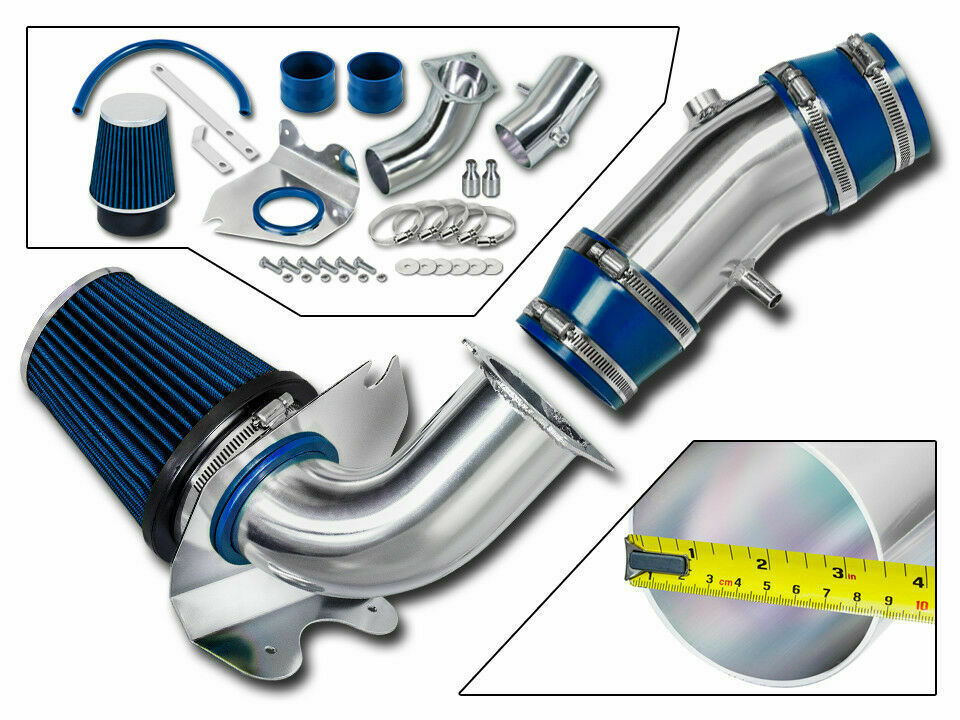 94 95 mustang gt 5 0 v8 cold air intake kit blue filter ebay. Black Bedroom Furniture Sets. Home Design Ideas