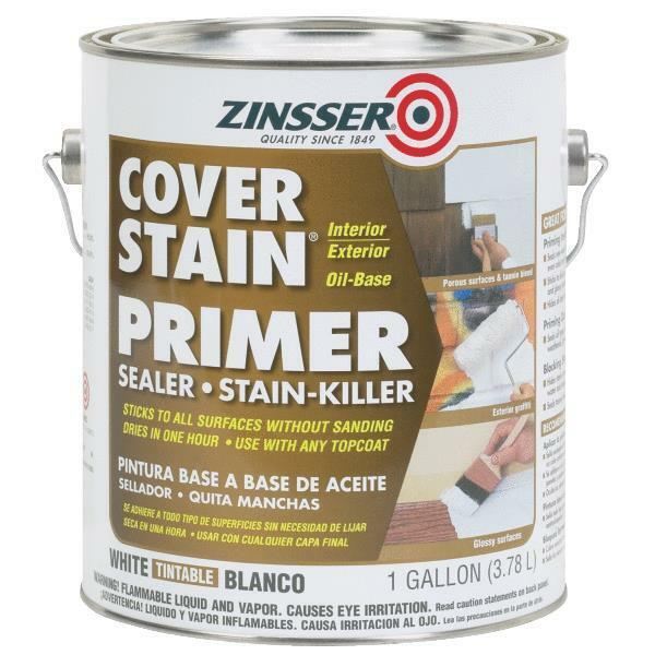 4 Gal Zinsser Cover Stain Interior Exterior Stain Blocking