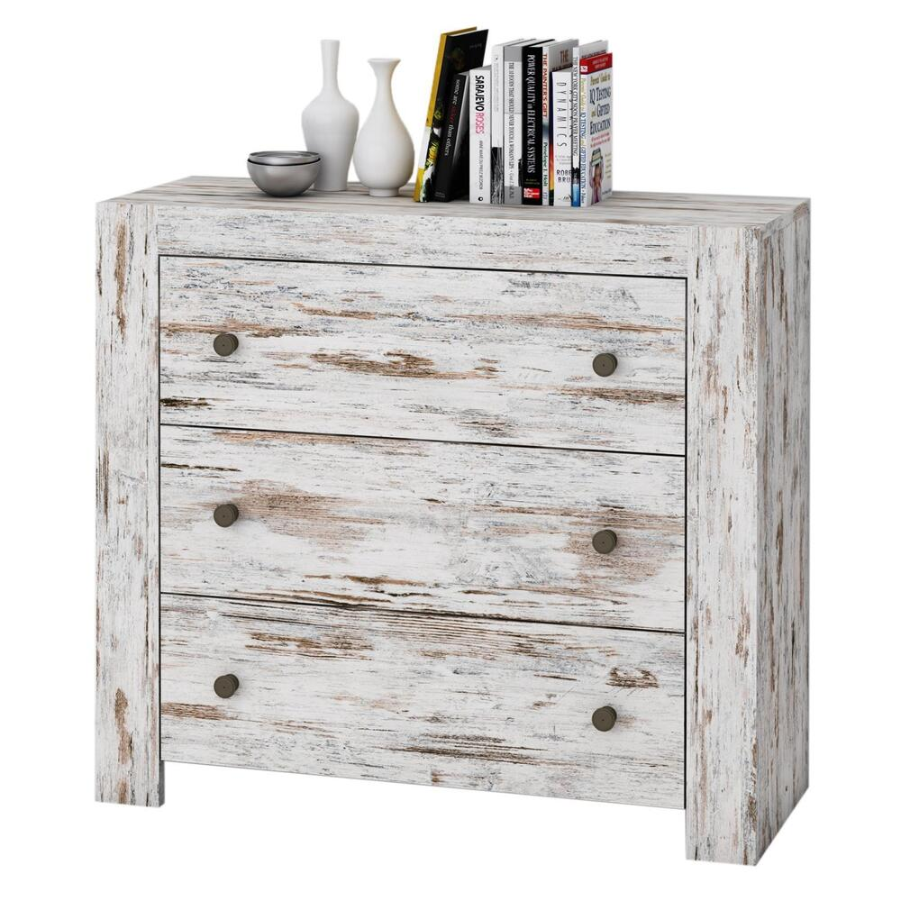shabby chic vintage kommode 90 cm sideboard schubladen landhaus anrichte wei ebay. Black Bedroom Furniture Sets. Home Design Ideas