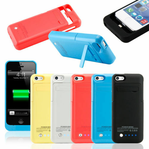 iphone 5c case charger external backup battery charger cover 2200mah for 6950