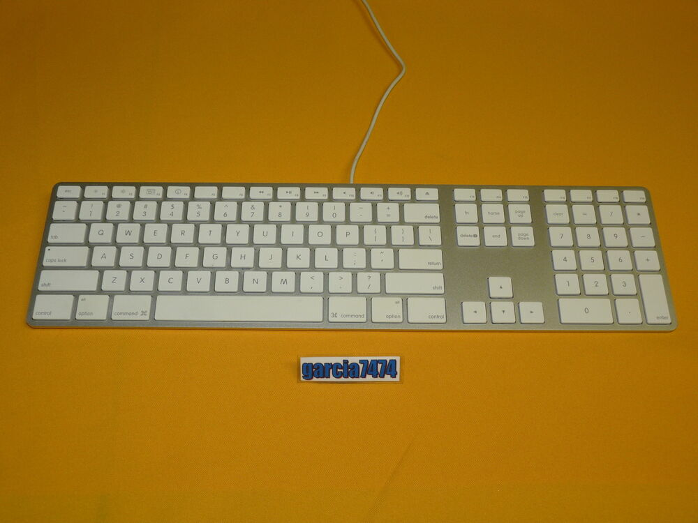 apple a1243 usb wired slim aluminum keyboard with numeric keypad ebay. Black Bedroom Furniture Sets. Home Design Ideas