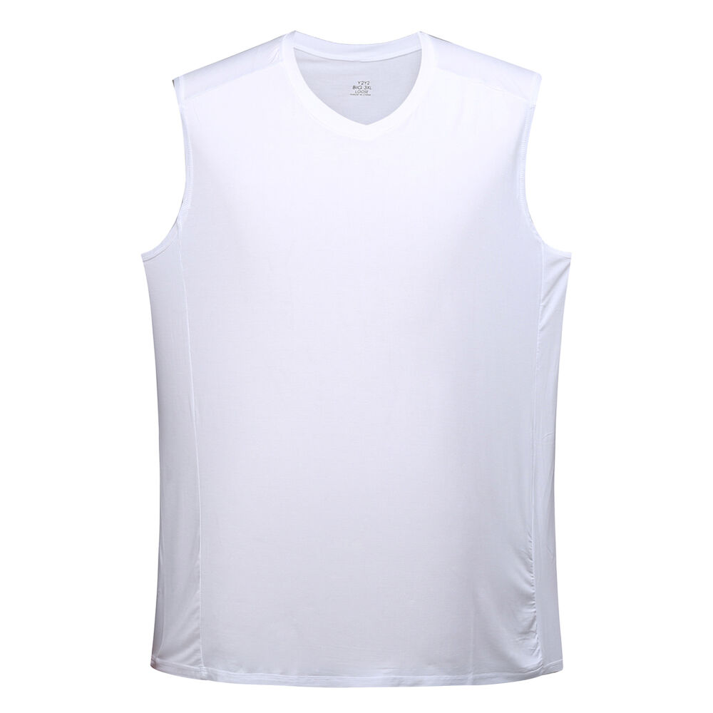 Mens big and tall modal sleeveless v neck t shirt for Large v neck t shirts