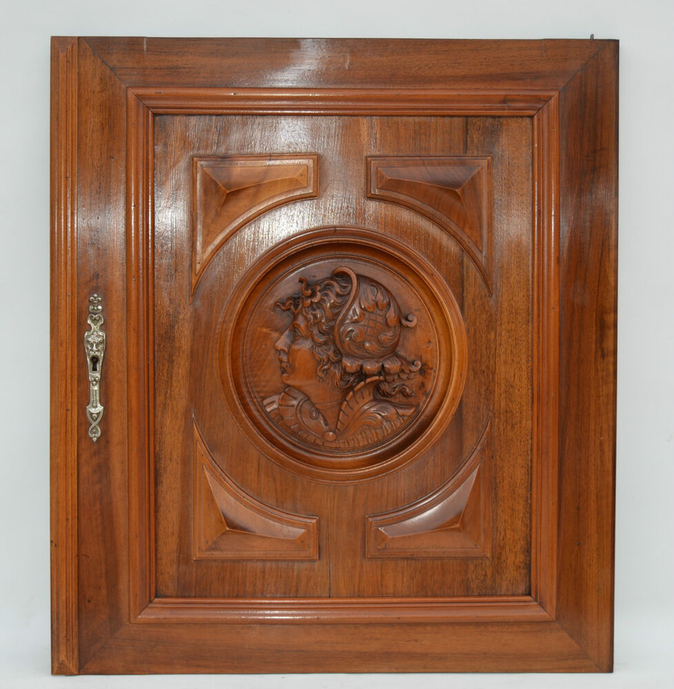 Carved Door Panels : Wooden architectural door panel french antique carved