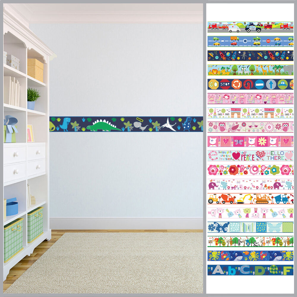 Wallpaper Borders Children's Kids Nursery Boys Girls ...