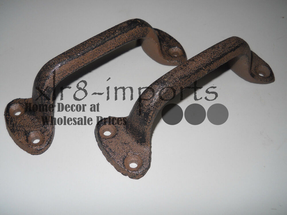 12 Cast Iron Antique Style Rustic Barn Handle Gate Pull